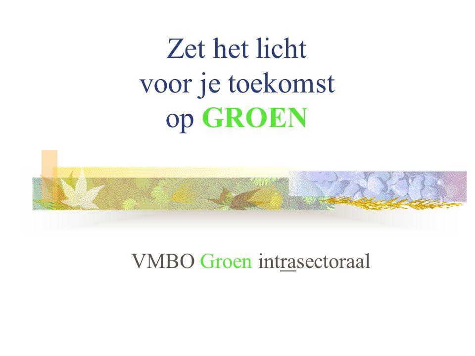 Zet het licht voor je toekomst op GROEN VMBO Groen intrasectoraal
