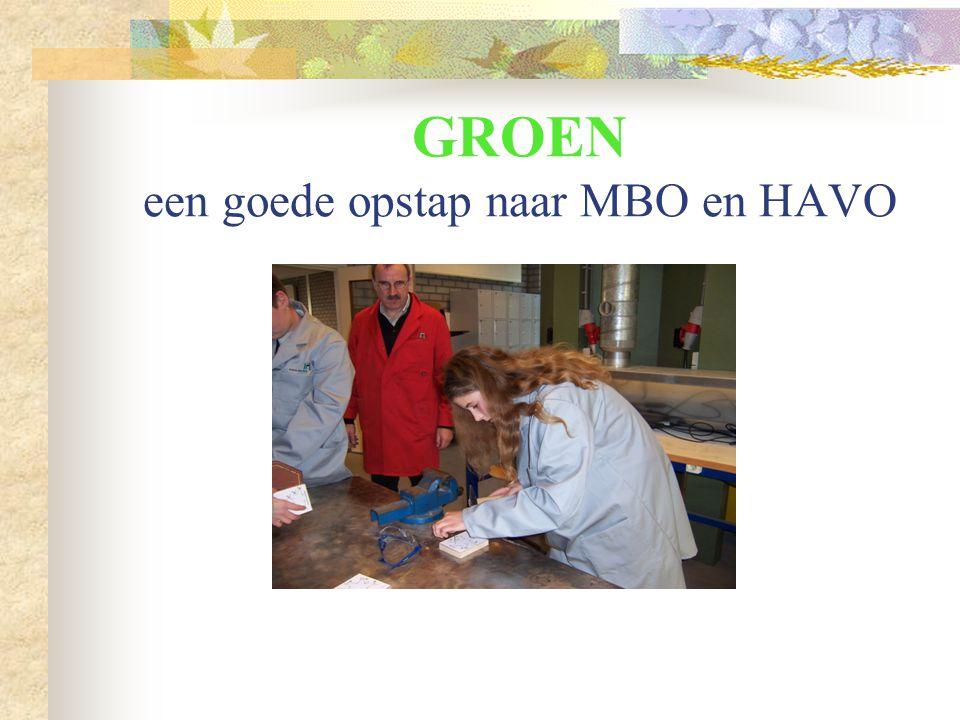 GROEN een goede opstap naar MBO en HAVO