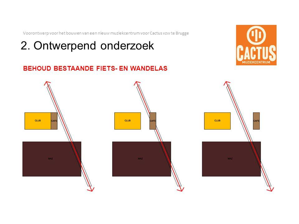 Voorontwerp voor het bouwen van een nieuw muziekcentrum voor Cactus vzw te Brugge 2.