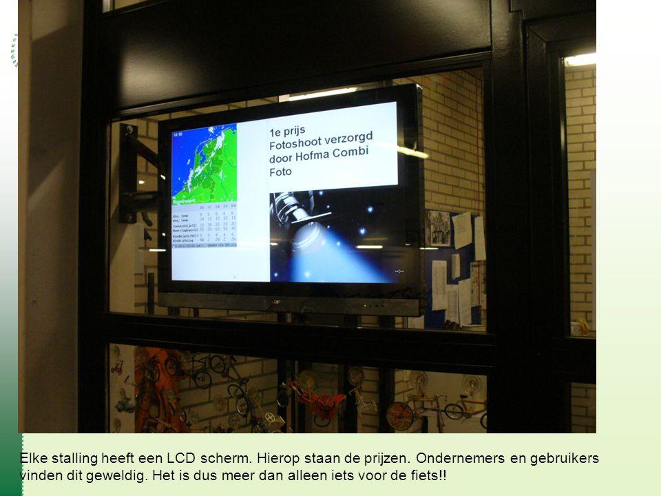 Elke stalling heeft een LCD scherm.Hierop staan de prijzen.
