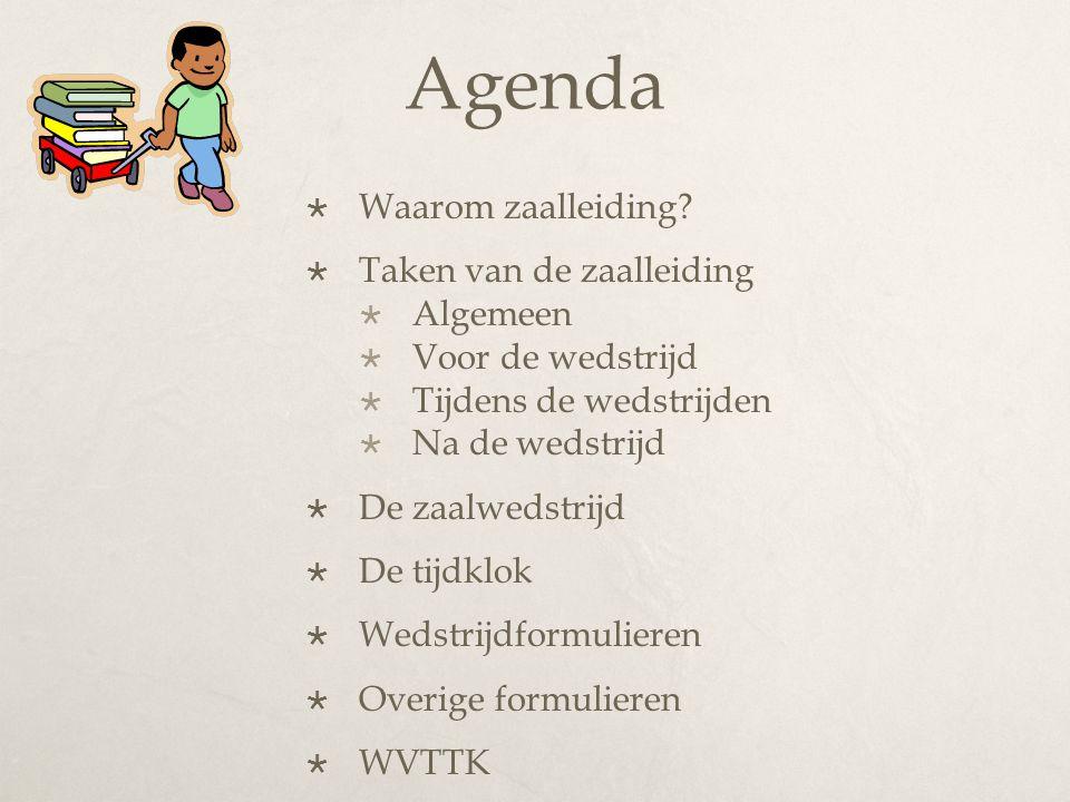 Agenda  Waarom zaalleiding.