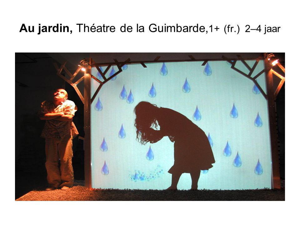 Au jardin, Théatre de la Guimbarde, 1+ (fr.) 2–4 jaar