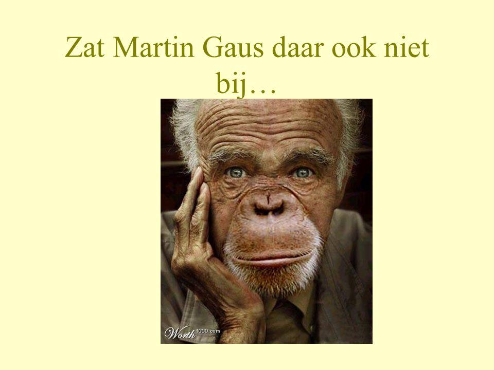 Zat Martin Gaus daar ook niet bij…
