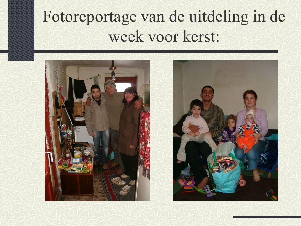 Fotoreportage van de uitdeling in de week voor kerst: