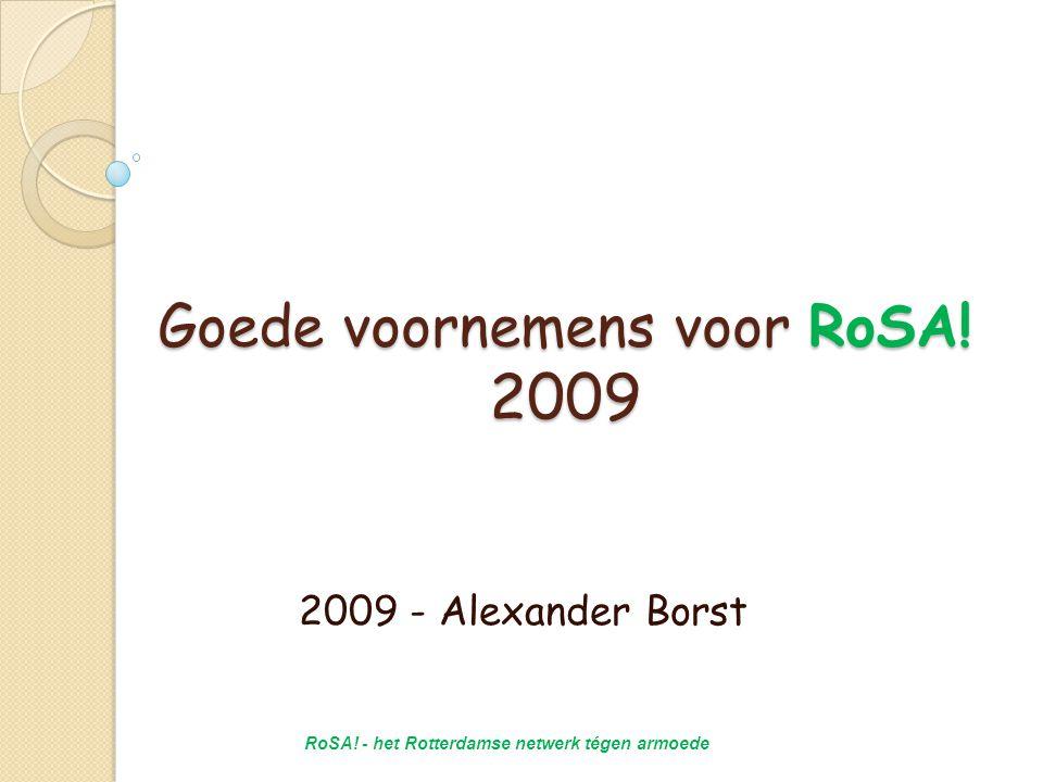 Goede voornemens voor RoSA.2009 2009 - Alexander Borst RoSA.