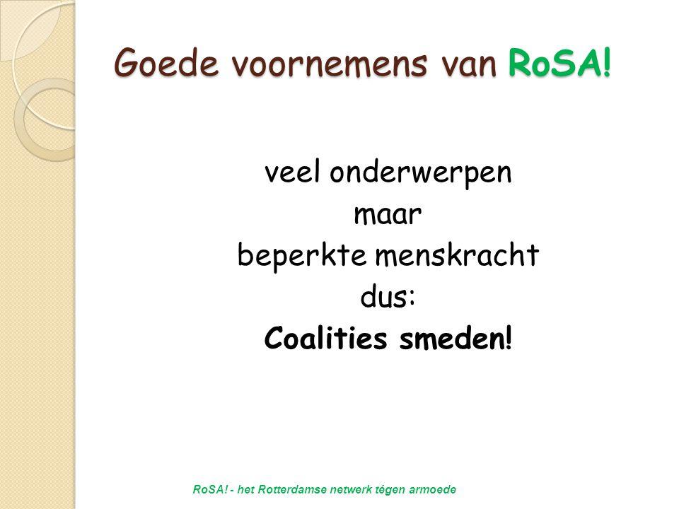 Goede voornemens van RoSA.