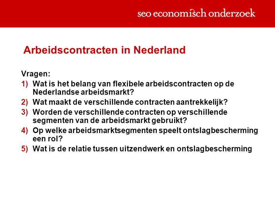 Arbeidscontracten in Nederland Vragen:  Wat is het belang van flexibele arbeidscontracten op de Nederlandse arbeidsmarkt?  Wat maakt de verschille