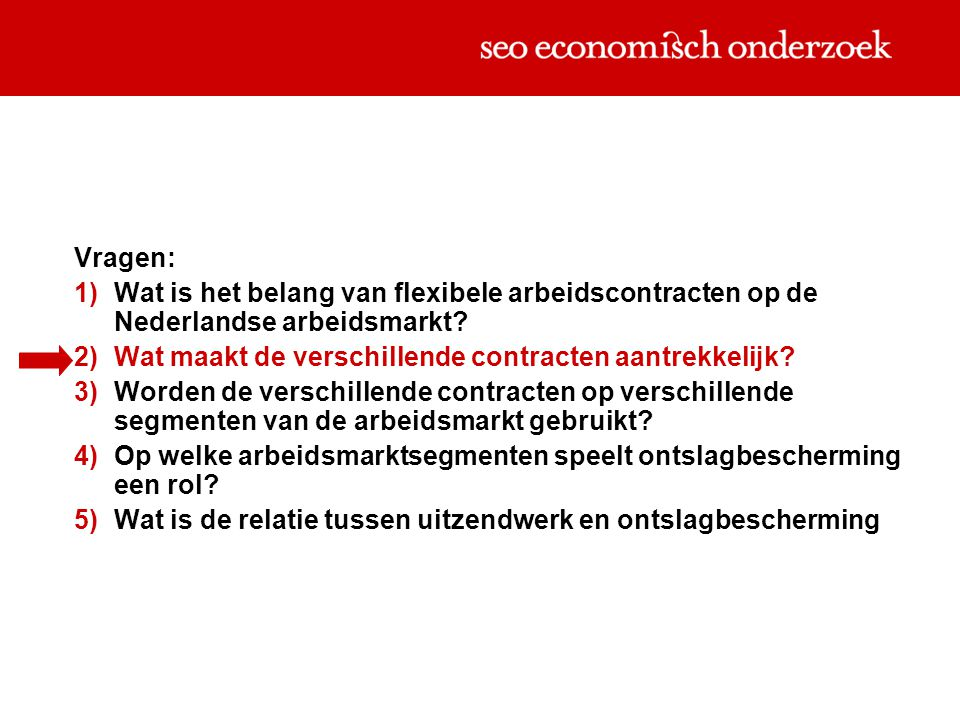 Karakteristieken arbeidscontracten (Kalleberg e.a., 2000)
