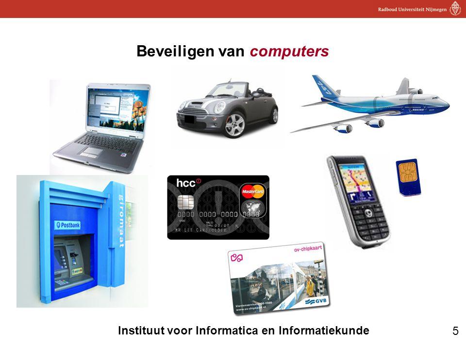 16 Instituut voor Informatica en Informatiekunde RFID toepassing: ipv streepjescodes privacy risico: kun je aan (unieke!) code van één weggegooid artikel straks opzoeken met wiens Albert Heijn bonuskaart het gekocht is?