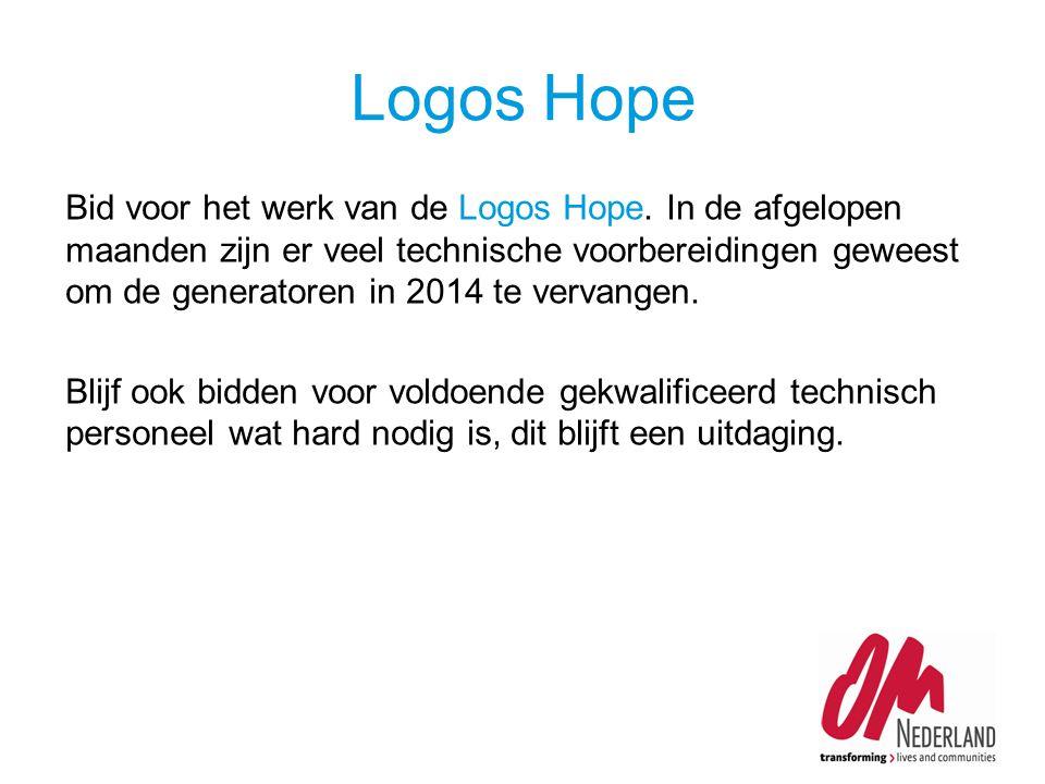 Bid voor het werk van de Logos Hope.
