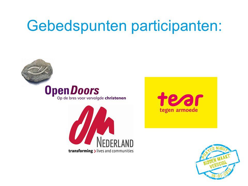 Gebedspunten participanten: