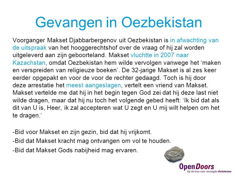 Voorganger Makset Djabbarbergenov uit Oezbekistan is in afwachting van de uitspraak van het hooggerechtshof over de vraag of hij zal worden uitgeleverd aan zijn geboorteland.
