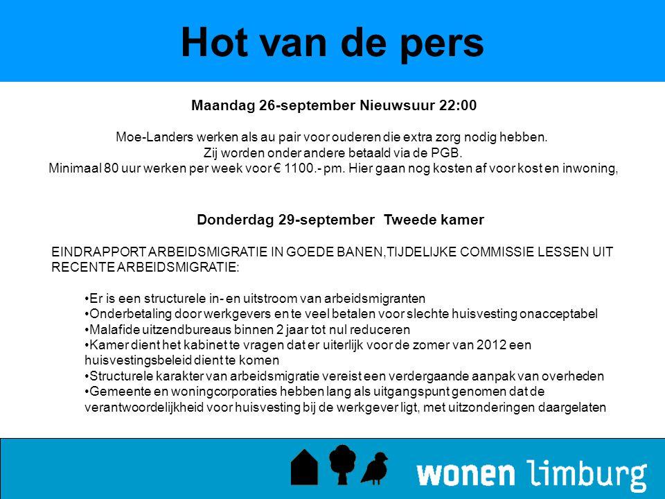 Hot van de pers Maandag 26-september Nieuwsuur 22:00 Moe-Landers werken als au pair voor ouderen die extra zorg nodig hebben. Zij worden onder andere
