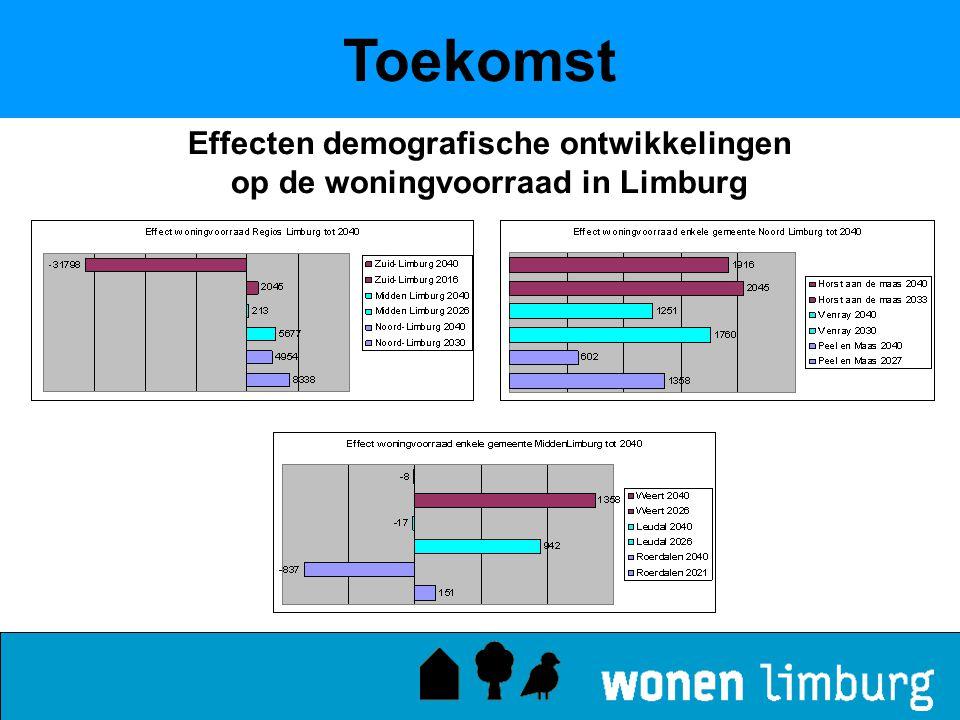Toekomst Effecten demografische ontwikkelingen op de woningvoorraad in Limburg
