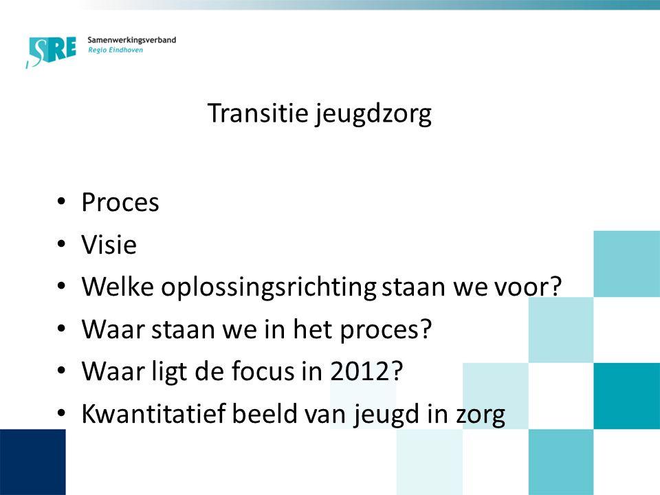 Transitie jeugdzorg • Proces • Visie • Welke oplossingsrichting staan we voor.