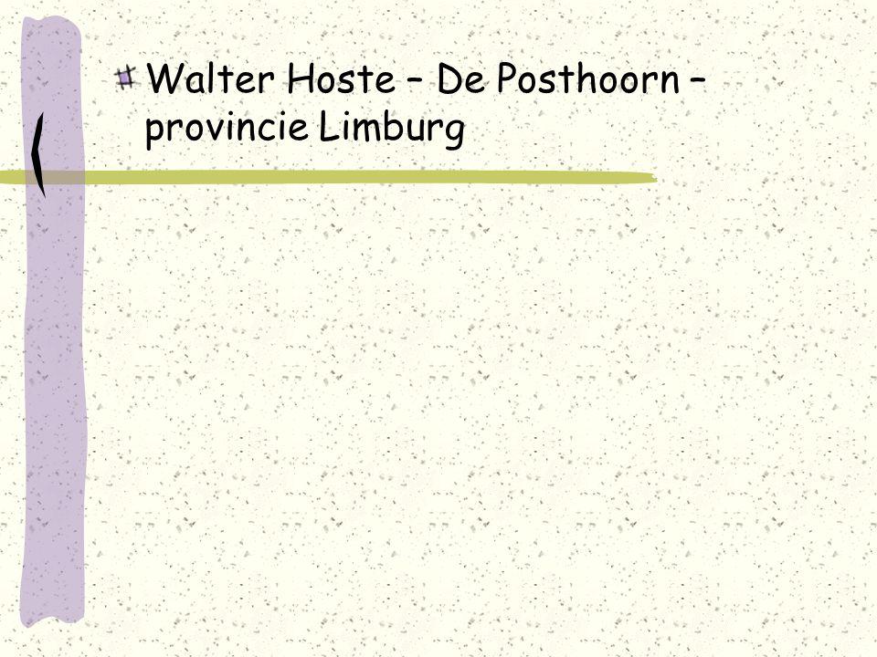 Walter Hoste – De Posthoorn – provincie Limburg