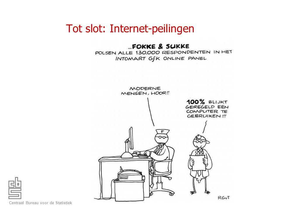 Centraal Bureau voor de Statistiek Tot slot: Internet-peilingen