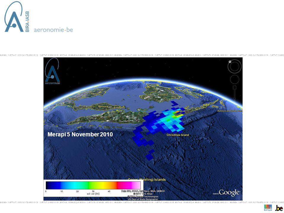 BELGISCH INSTITUUT VOOR RUIMTE-AERONOMIE INSTITUT D'AERONOMIE SPATIALE DE BELGIQUE BELGIAN INSTITUTE OF SPACE AERONOMY BELGISCH INSTITUUT VOOR RUIMTE-AERONOMIE INSTITUT D'AERONOMIE SPATIALE DE BELGIQUE BELGIAN INSTITUTE OF SPACE AERONOMY BELGISCH INSTITUUT VOOR RUIMTE-AERONOMIE INSTITUT D'AERONOMIE SPAT- Merapi 5 November 2010