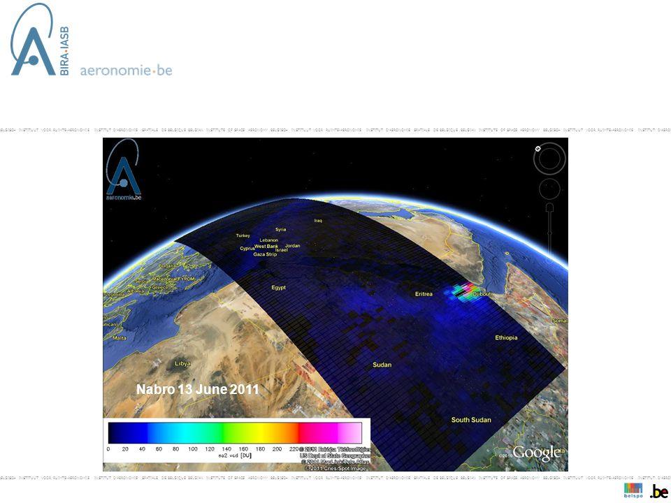 BELGISCH INSTITUUT VOOR RUIMTE-AERONOMIE INSTITUT D'AERONOMIE SPATIALE DE BELGIQUE BELGIAN INSTITUTE OF SPACE AERONOMY BELGISCH INSTITUUT VOOR RUIMTE-AERONOMIE INSTITUT D'AERONOMIE SPATIALE DE BELGIQUE BELGIAN INSTITUTE OF SPACE AERONOMY BELGISCH INSTITUUT VOOR RUIMTE-AERONOMIE INSTITUT D'AERONOMIE SPAT- Nabro 13 June 2011