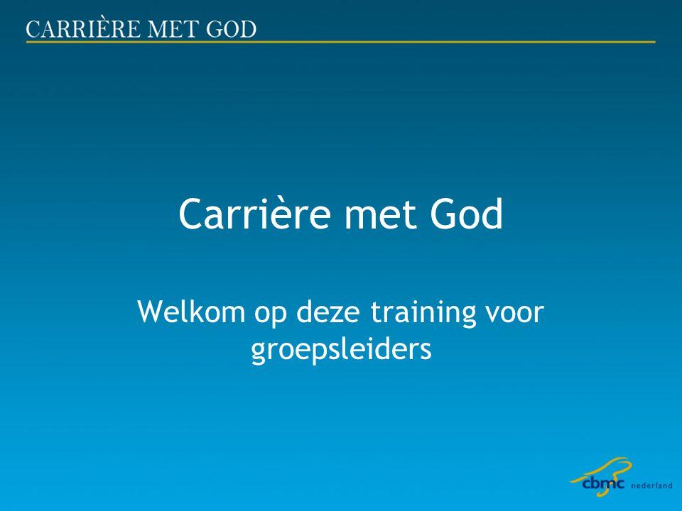 Carrière met God Welkom op deze training voor groepsleiders