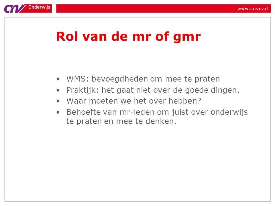 www.cnvo.nl Dilemma Uw school heeft een jonge groep leerkrachten met veel nieuwe ideeën over hoe goed onderwijs te geven (bv door gebruik te maken van huidige ICT mogelijkheden) en willen dit graag binnen de school toepassen om kwaliteit te verhogen.