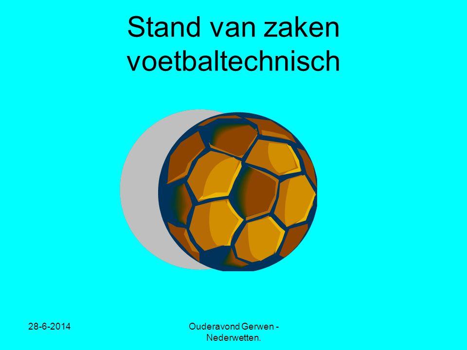 28-6-2014Ouderavond Gerwen - Nederwetten. Stand van zaken voetbaltechnisch