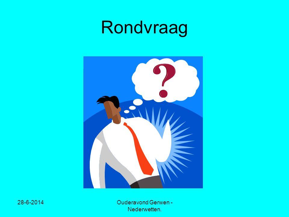28-6-2014Ouderavond Gerwen - Nederwetten. Rondvraag