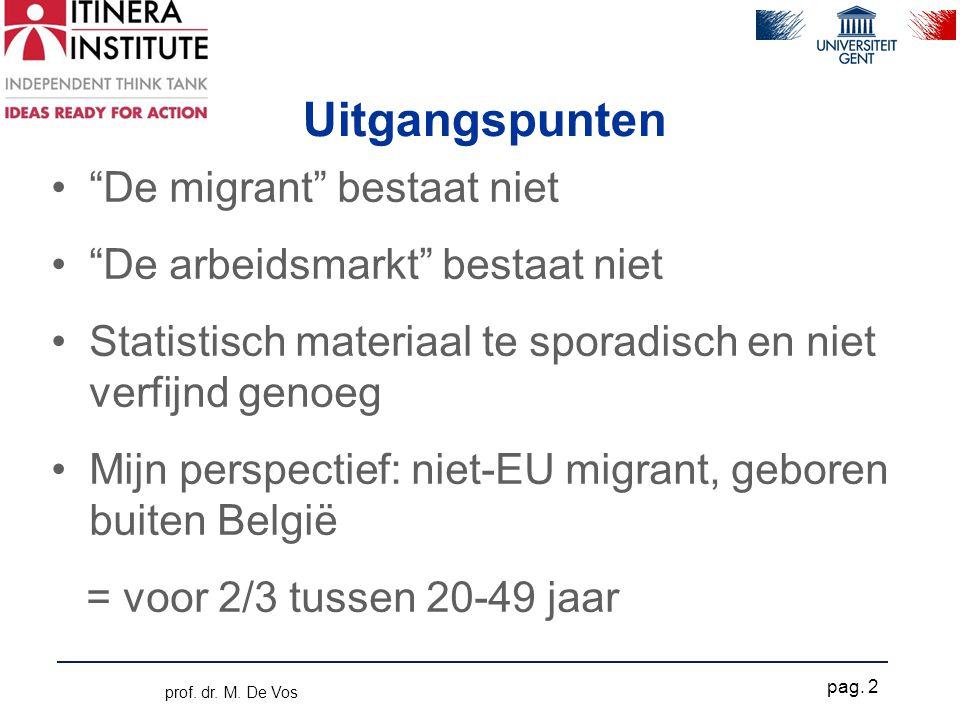 """Uitgangspunten •""""De migrant"""" bestaat niet •""""De arbeidsmarkt"""" bestaat niet •Statistisch materiaal te sporadisch en niet verfijnd genoeg •Mijn perspecti"""
