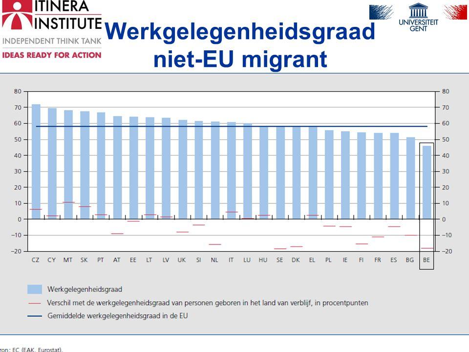 Drama •40% inactief •15% werkloos •45% job (en welke job?, hoelang?) •Nergens in Europa is voor kinderen van niet- EU immigranten de kans groter dat GEEN van hun beide ouders niet werkt.