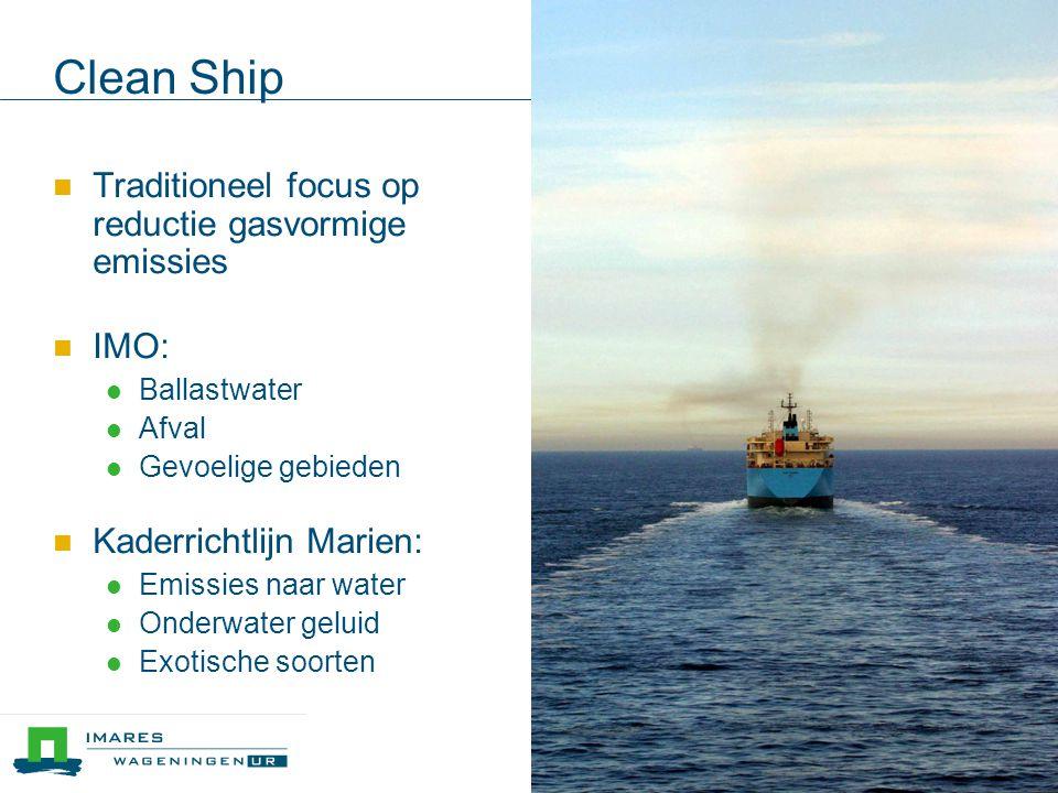 Scope JIP of bilateraal project  Keuze scheepstypen/activiteit  Bulk carrier  Tanker  Sleepboot  Cruise-schip  Offshore supply  Windpark  Haven ...