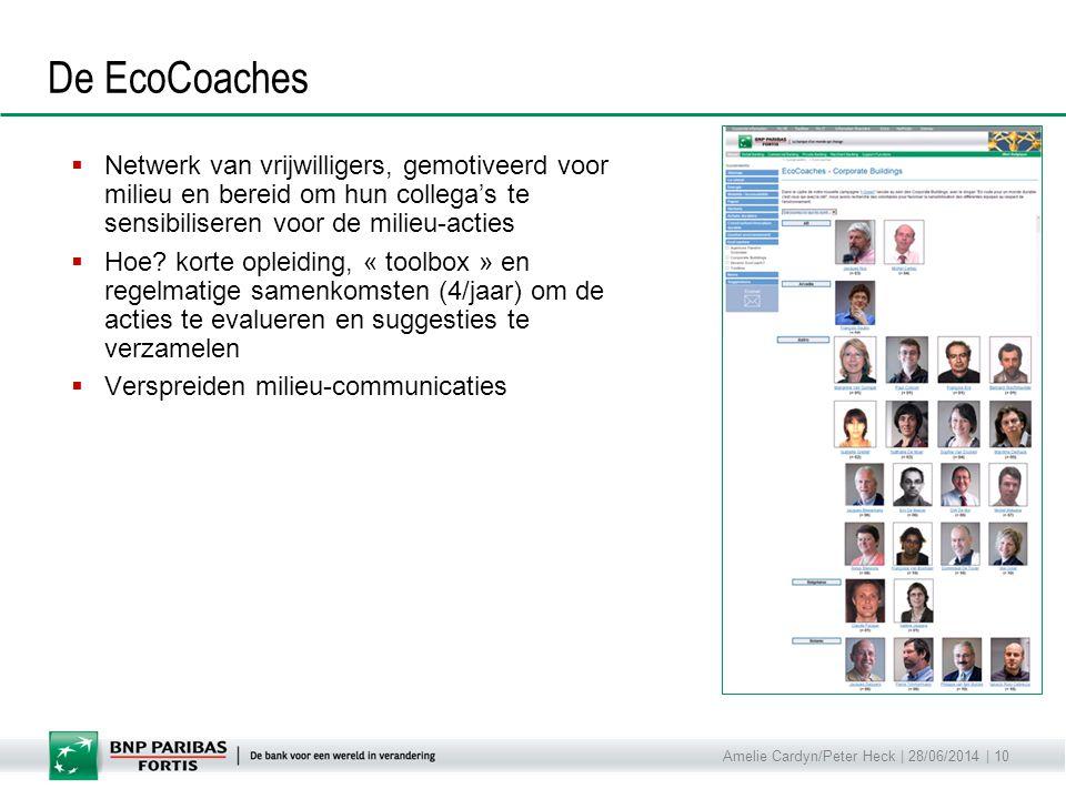 Amelie Cardyn/Peter Heck | 28/06/2014 | 10 De EcoCoaches  Netwerk van vrijwilligers, gemotiveerd voor milieu en bereid om hun collega's te sensibilis