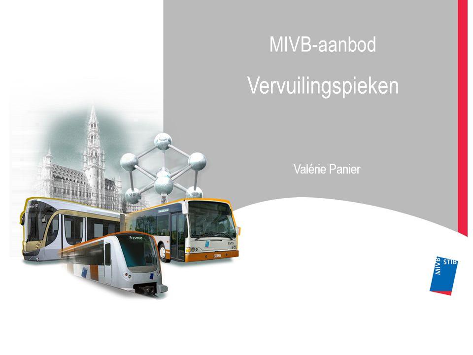 MIVB-aanbod Vervuilingspieken Valérie Panier