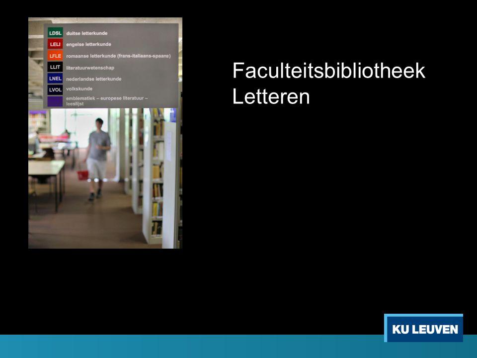Faculteitsbibliotheek Letteren