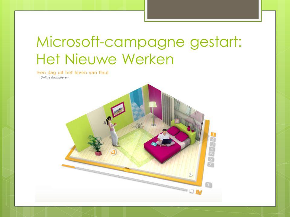 Microsoft-campagne gestart: Het Nieuwe Werken