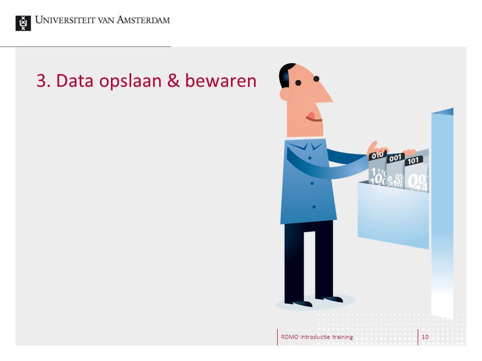 3. Data opslaan & bewaren RDMO Introductie training10