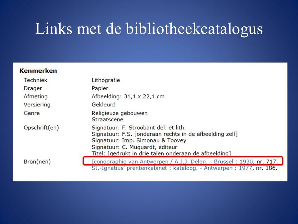Links met de bibliotheekcatalogus