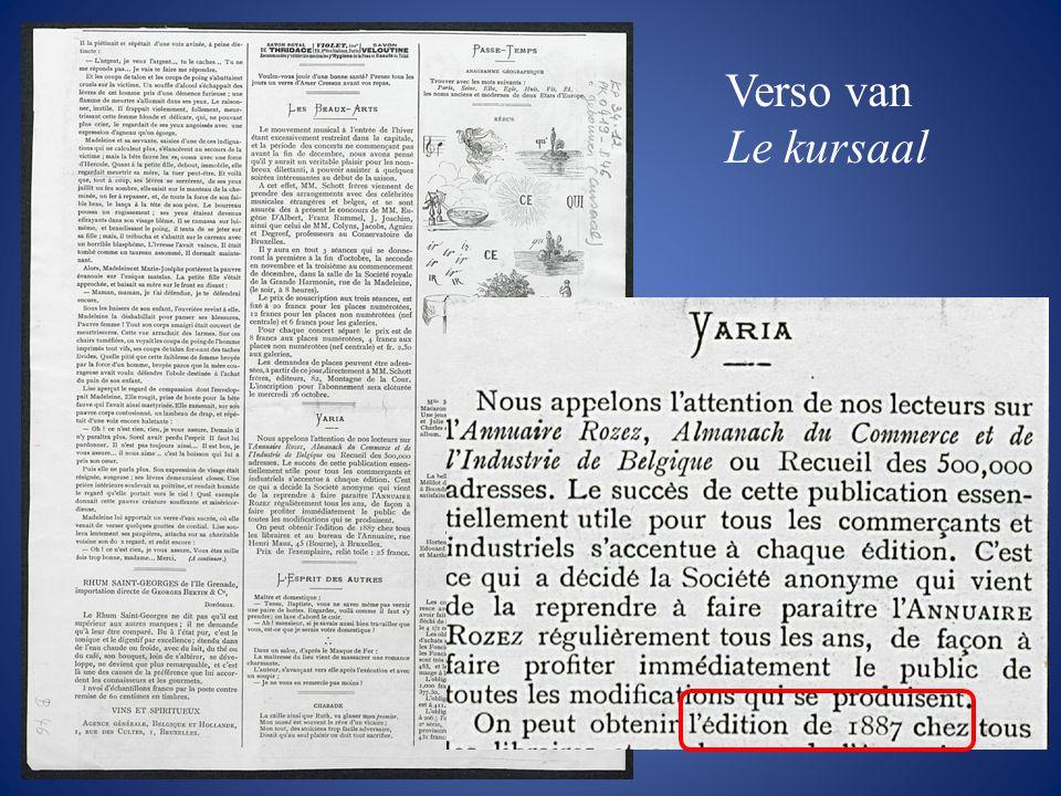 Verso van Le kursaal