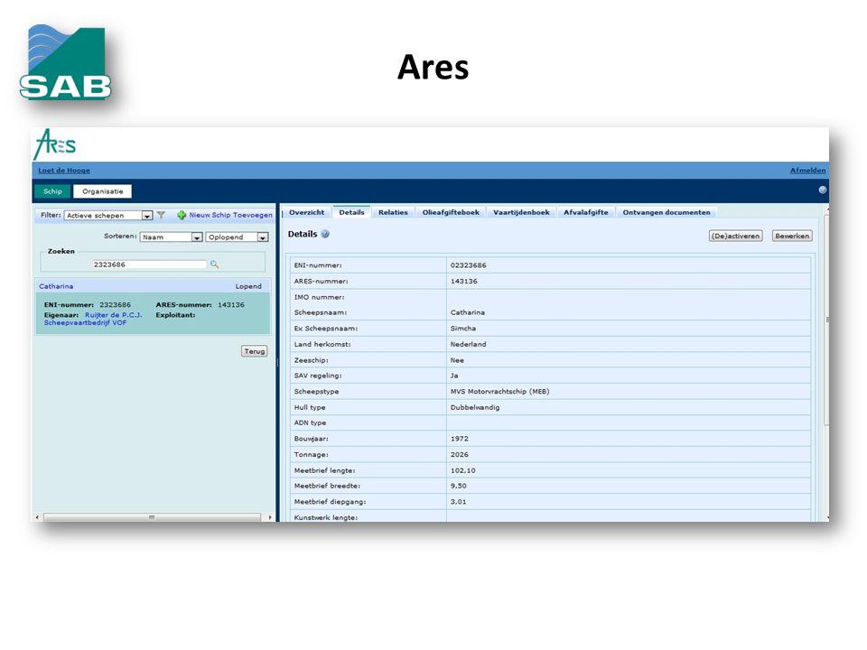 Basis • Ecokaart – Voorzien van een RFID contactloze chip – Geen gevoelige gegevens op de chip – Beproefde techniek – Gratis aan te vragen bij SAB • Voordelen gebruik van ECO/SABkaart voor havenfaciliteiten – Internationaal verplicht.