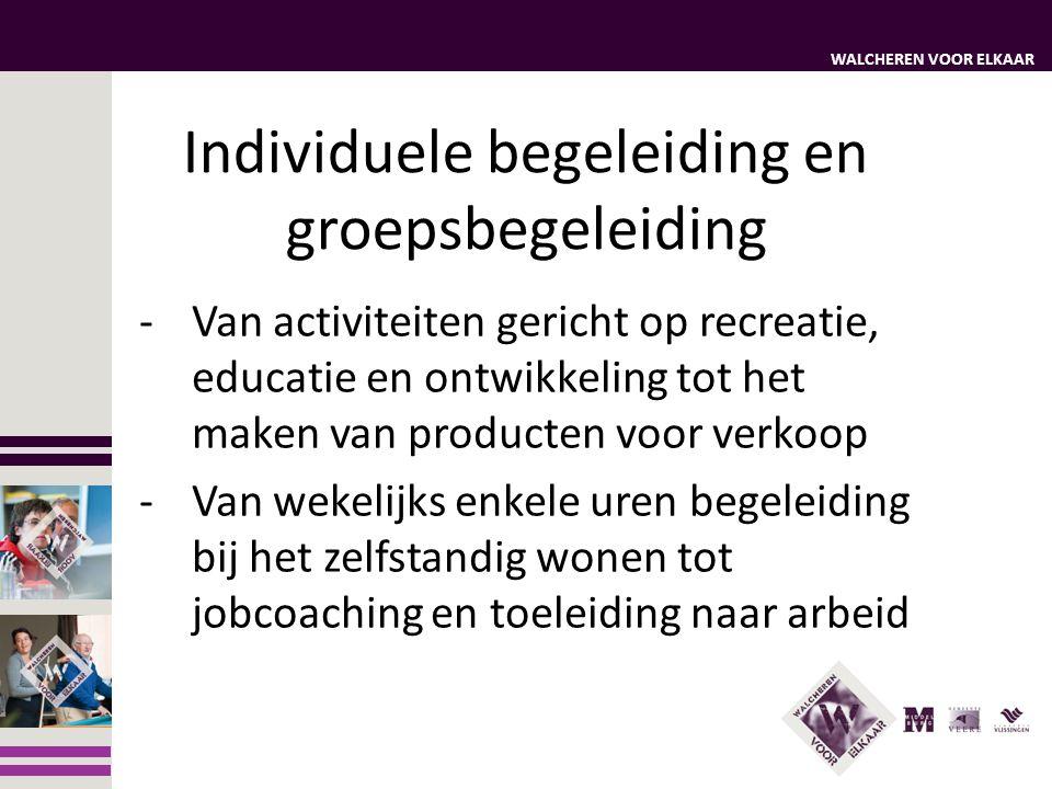 WALCHEREN VOOR ELKAAR Individuele begeleiding en groepsbegeleiding -Van activiteiten gericht op recreatie, educatie en ontwikkeling tot het maken van