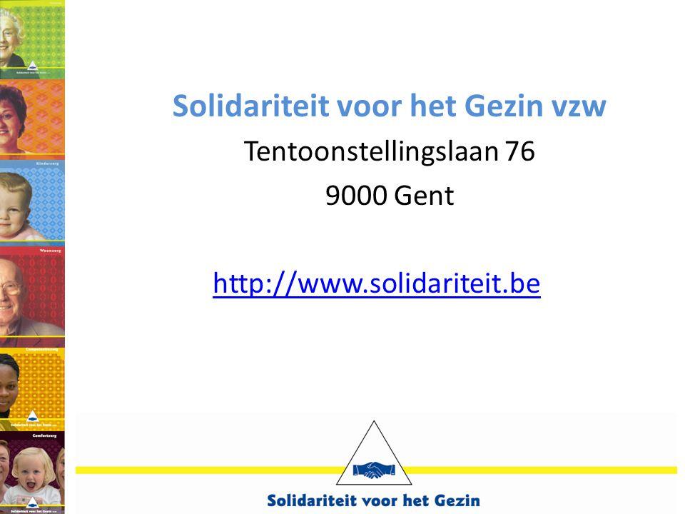 Solidariteit voor het Gezin vzw Tentoonstellingslaan 76 9000 Gent http://www.solidariteit.be