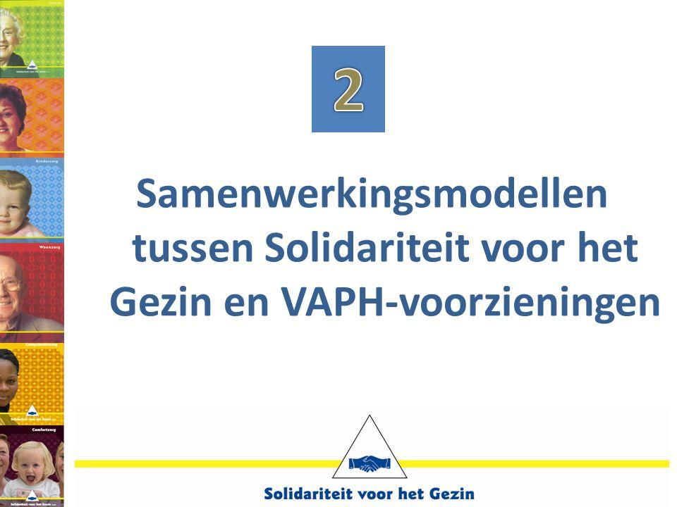 Samenwerkingsmodellen tussen Solidariteit voor het Gezin en VAPH-voorzieningen