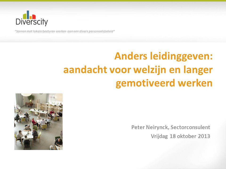 Samen met lokale besturen werken aan een divers personeelsbeleid Vlaamse werkbaarheidsmonitor SERV - 2010 Werkdruk problematisch