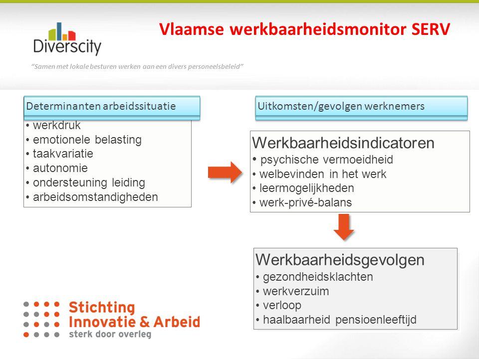 """""""Samen met lokale besturen werken aan een divers personeelsbeleid"""" Werkbaarheidsgevolgen • gezondheidsklachten • werkverzuim • verloop • haalbaarheid"""
