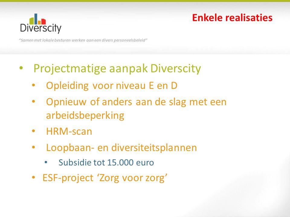Samen met lokale besturen werken aan een divers personeelsbeleid Vlaamse werkbaarheidsmonitor SERV - 2010 Autonomie problematisch