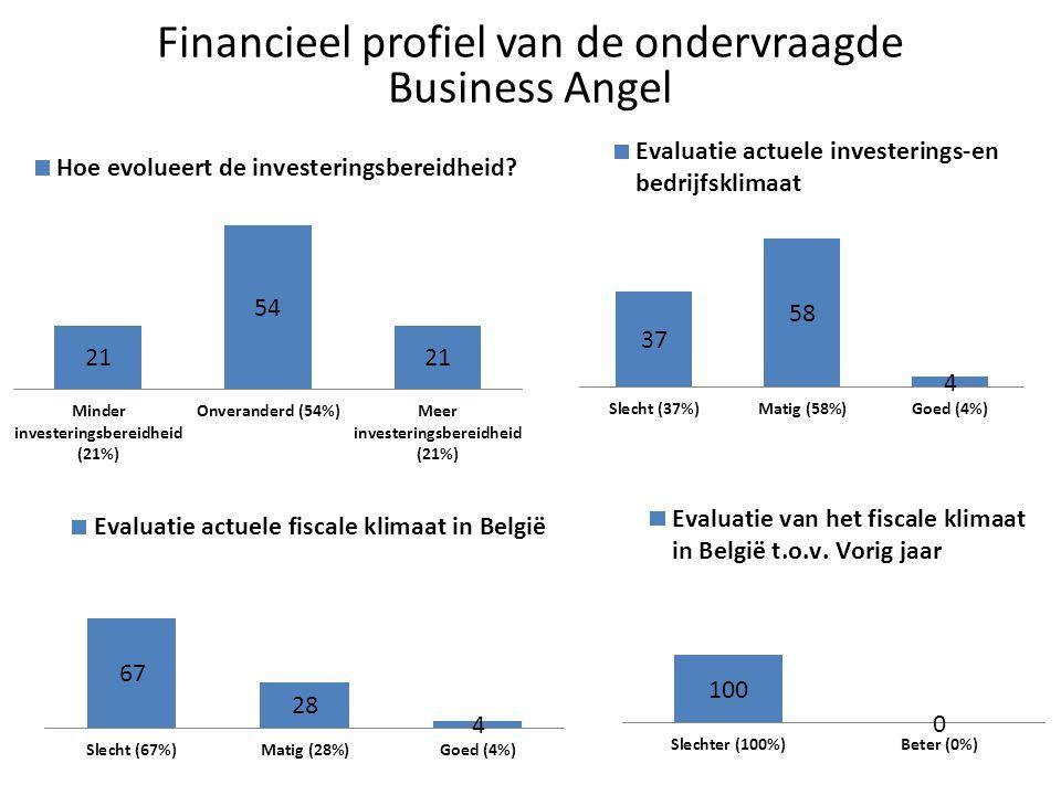Financieel profiel van de ondervraagde Business Angel