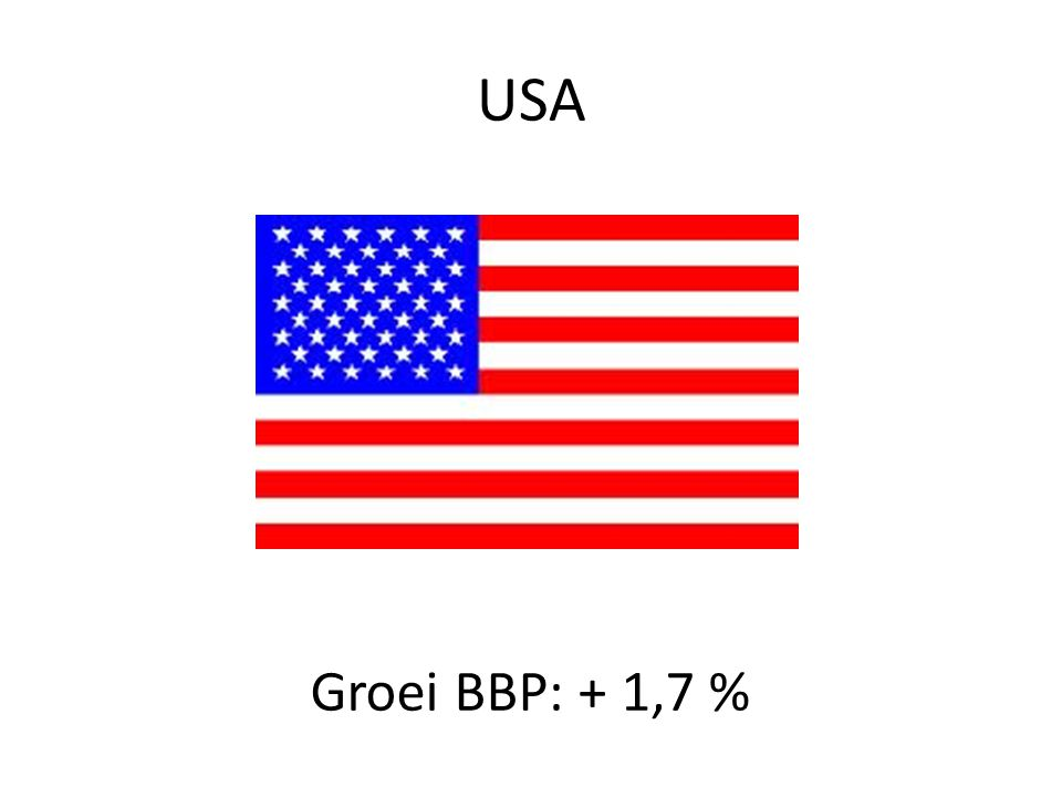 USA Groei BBP: + 1,7 %