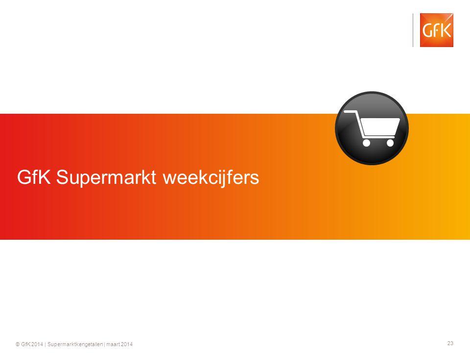 23 © GfK 2014 | Supermarktkengetallen | maart 2014 GfK Supermarkt weekcijfers