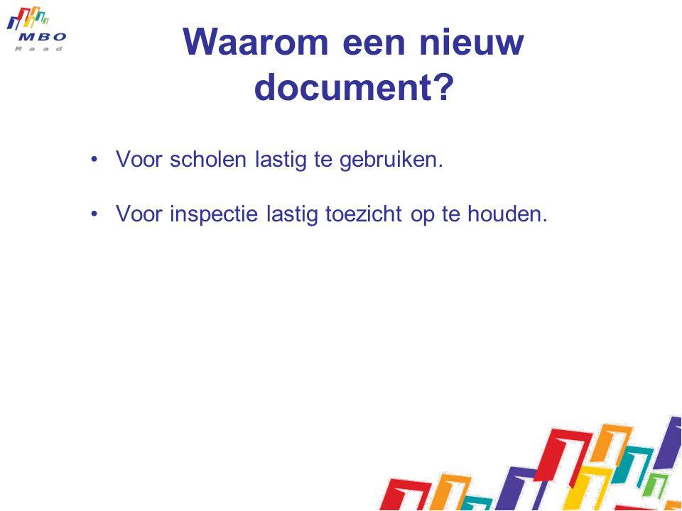 Nieuwe eisen loopbaan en burgerschap •Nieuwe kwalificatie-eisen zijn gebaseerd op het advies dat de MBO Raad in mei 2010 aanbood aan de toenmalige staatssecretaris.