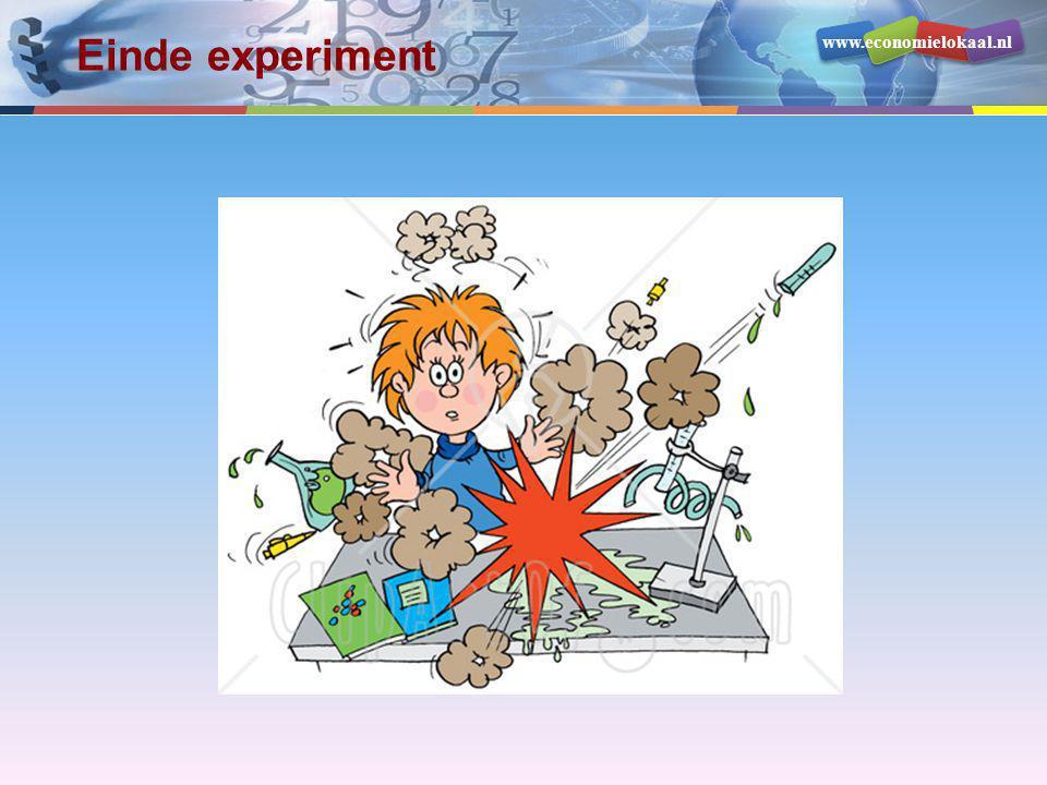 www.economielokaal.nl Einde experiment