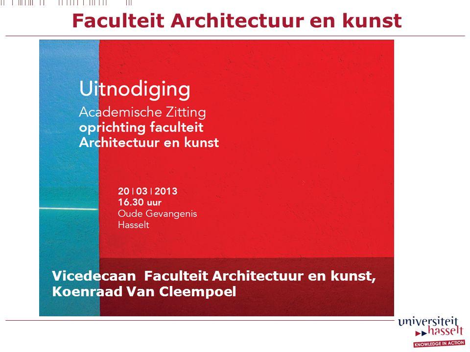 Faculteit Architectuur en kunst Vicedecaan Faculteit Architectuur en kunst, Koenraad Van Cleempoel